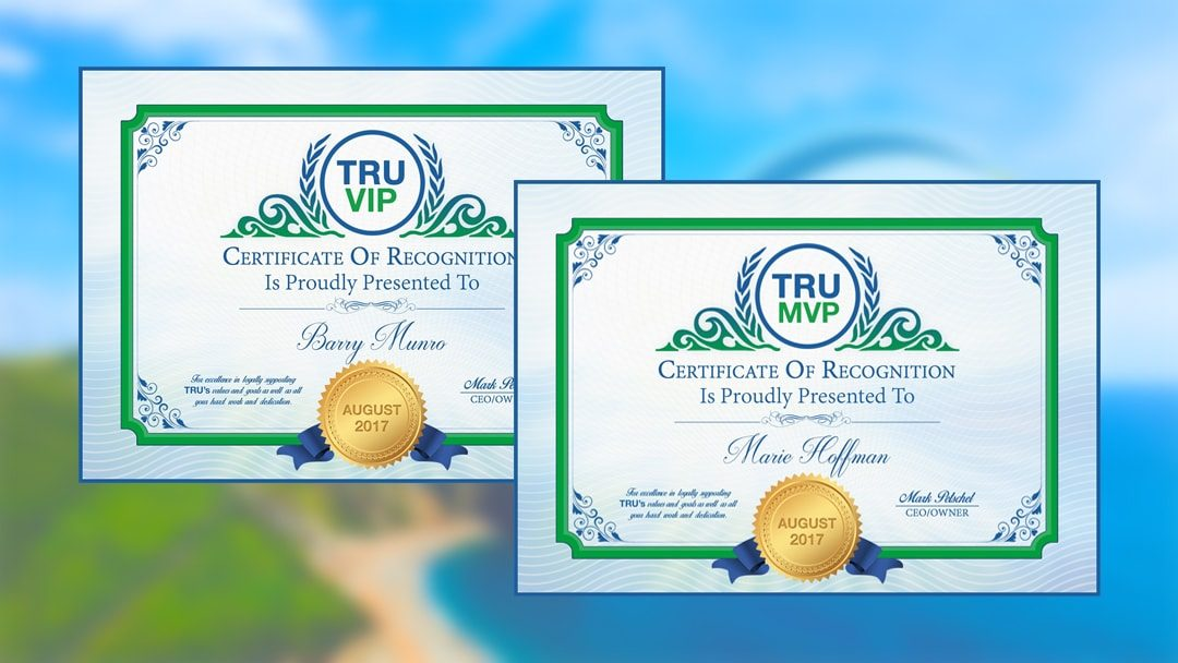 TRUVIP & TRUMVP Winners For August 2017