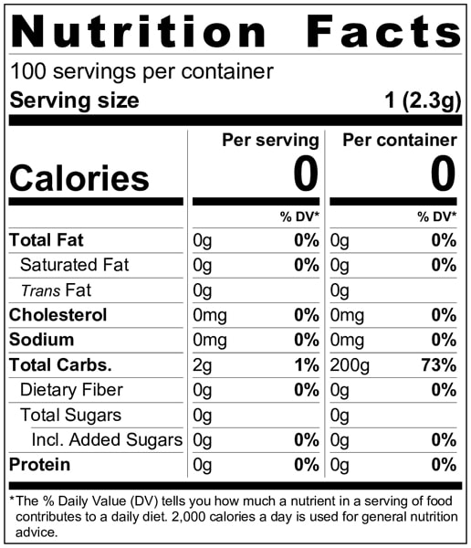 TRULICIOUS Nutritional Facts